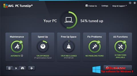 Στιγμιότυπο οθόνης AVG PC Tuneup Windows 8