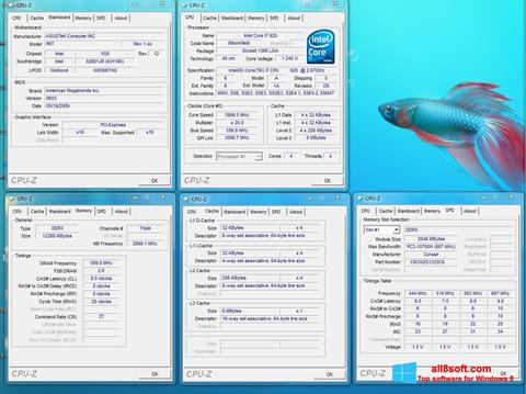 Στιγμιότυπο οθόνης CPU-Z Windows 8