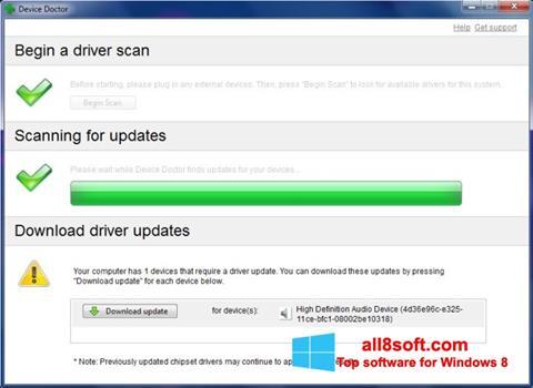 Στιγμιότυπο οθόνης Device Doctor Windows 8