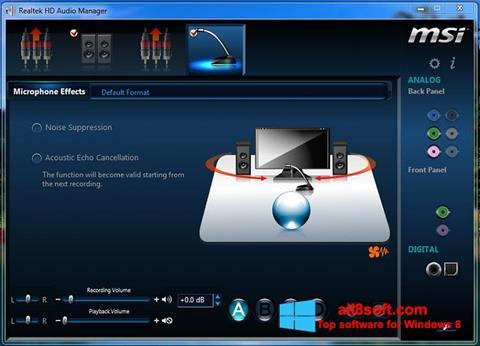 Στιγμιότυπο οθόνης Realtek Audio Driver Windows 8
