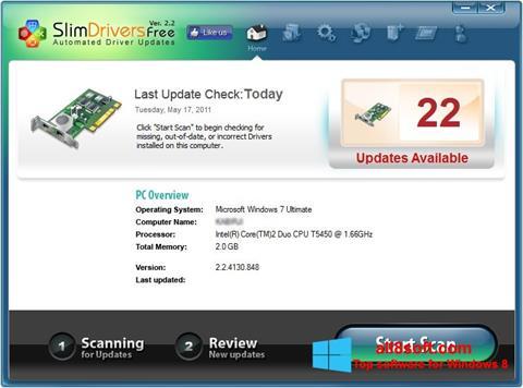 Στιγμιότυπο οθόνης SlimDrivers Windows 8