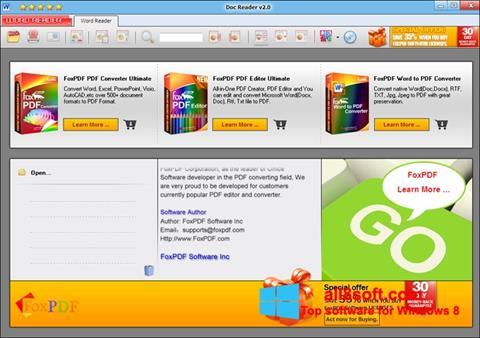 Στιγμιότυπο οθόνης Doc Reader Windows 8