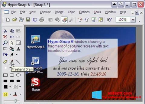 Στιγμιότυπο οθόνης HyperSnap Windows 8