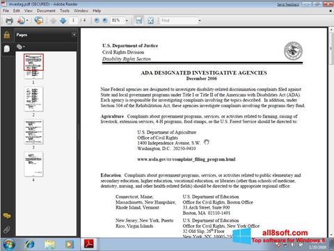 Στιγμιότυπο οθόνης Adobe Reader Windows 8