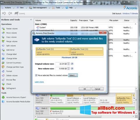 Στιγμιότυπο οθόνης Acronis Disk Director Windows 8