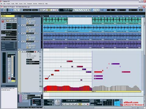 Στιγμιότυπο οθόνης Cubase SX Windows 8