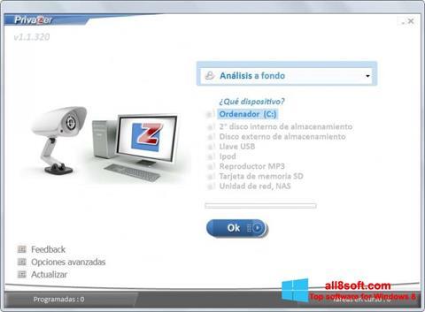 Στιγμιότυπο οθόνης PrivaZer Windows 8