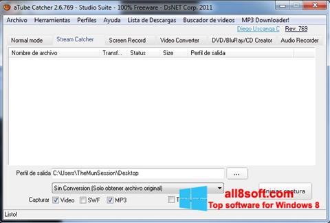 Στιγμιότυπο οθόνης aTube Catcher Windows 8