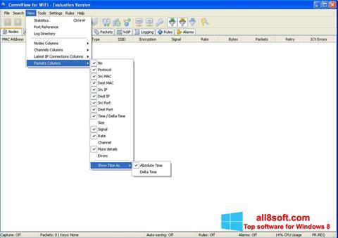 Στιγμιότυπο οθόνης CommView for WiFi Windows 8