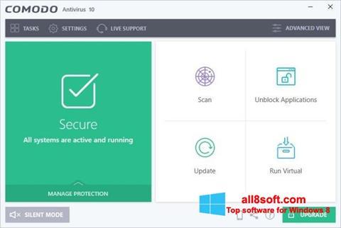 Στιγμιότυπο οθόνης Comodo Antivirus Windows 8