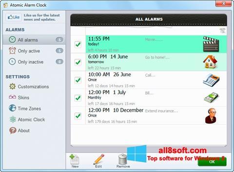 Στιγμιότυπο οθόνης Atomic Alarm Clock Windows 8