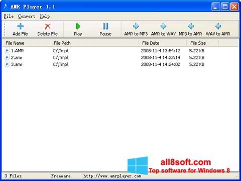 Στιγμιότυπο οθόνης AMR Player Windows 8