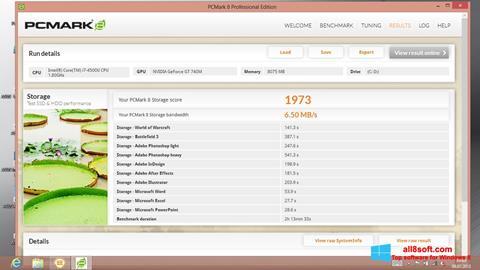Στιγμιότυπο οθόνης PCMark Windows 8