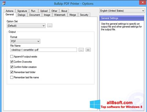 Στιγμιότυπο οθόνης BullZip PDF Printer Windows 8