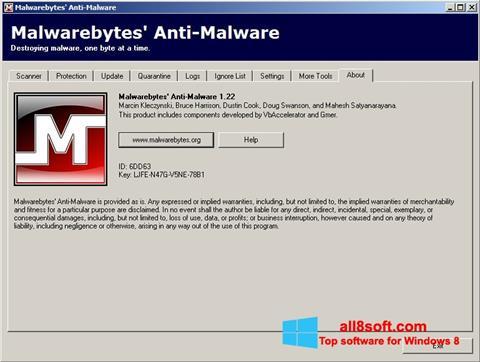 Στιγμιότυπο οθόνης Malwarebytes Anti-Malware Free Windows 8
