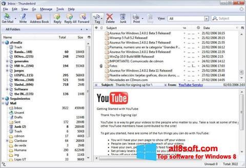 Στιγμιότυπο οθόνης Mozilla Thunderbird Windows 8