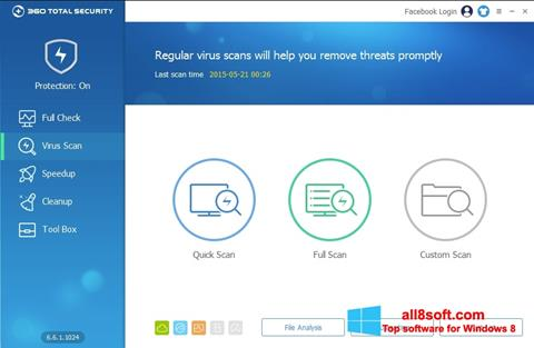 Στιγμιότυπο οθόνης 360 Total Security Windows 8