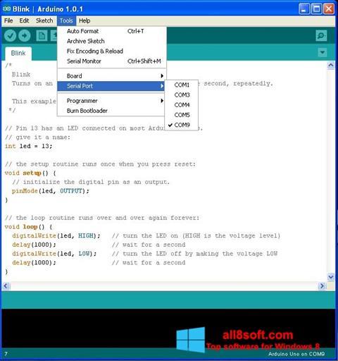 Στιγμιότυπο οθόνης Arduino Windows 8