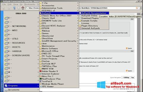 Στιγμιότυπο οθόνης AviSynth Windows 8