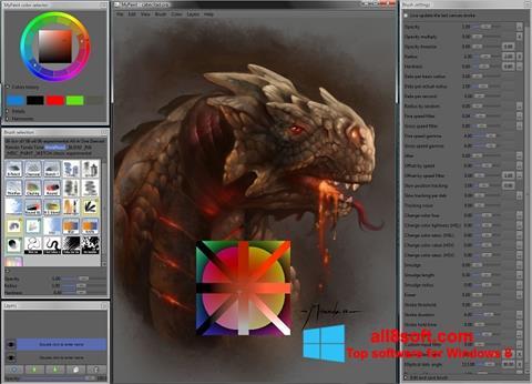 Στιγμιότυπο οθόνης MyPaint Windows 8