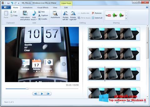 Στιγμιότυπο οθόνης Windows Live Movie Maker Windows 8