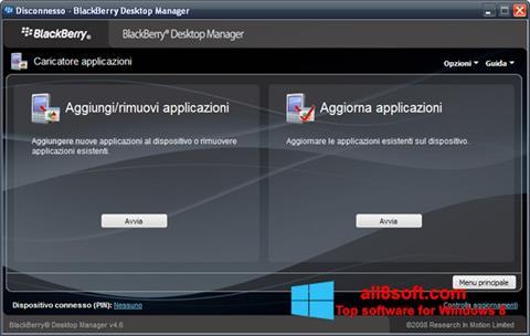 Στιγμιότυπο οθόνης BlackBerry Desktop Manager Windows 8