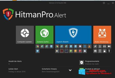 Στιγμιότυπο οθόνης HitmanPro Windows 8