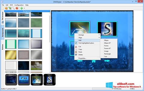 Στιγμιότυπο οθόνης DVDStyler Windows 8