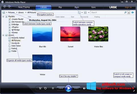 Στιγμιότυπο οθόνης Media Player Windows 8