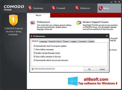Στιγμιότυπο οθόνης Comodo Firewall Windows 8