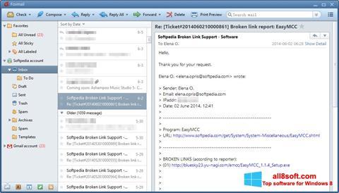 Στιγμιότυπο οθόνης FoxMail Windows 8