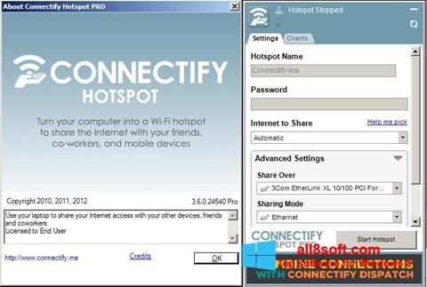Στιγμιότυπο οθόνης Connectify Hotspot PRO Windows 8