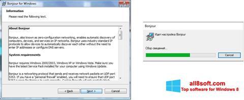 Στιγμιότυπο οθόνης Bonjour Windows 8