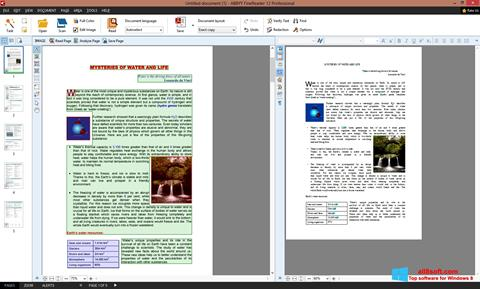 Στιγμιότυπο οθόνης ABBYY FineReader Windows 8