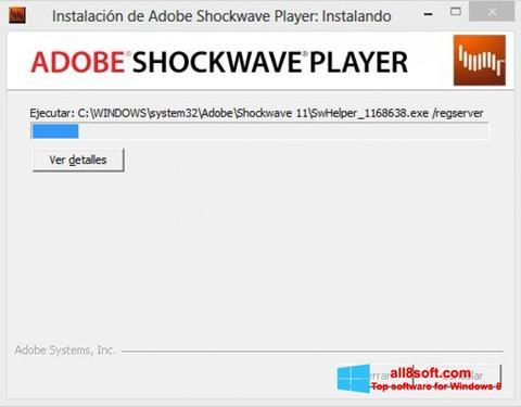 Στιγμιότυπο οθόνης Adobe Shockwave Player Windows 8