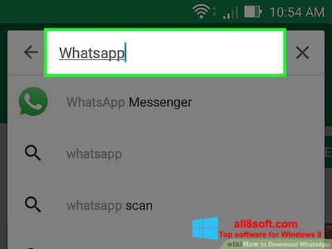 Στιγμιότυπο οθόνης WhatsApp Windows 8