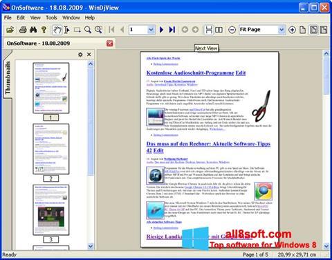 Στιγμιότυπο οθόνης WinDjView Windows 8