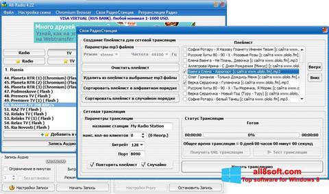 Στιγμιότυπο οθόνης All-Radio Windows 8