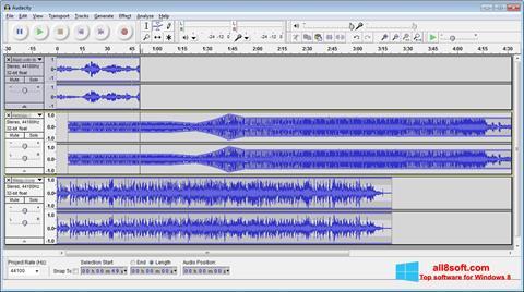 Στιγμιότυπο οθόνης Audacity Windows 8
