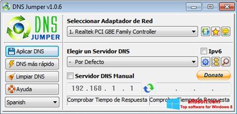 Στιγμιότυπο οθόνης DNS Jumper Windows 8