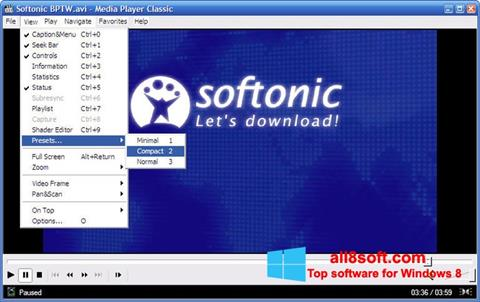 Στιγμιότυπο οθόνης Media Player Classic Windows 8