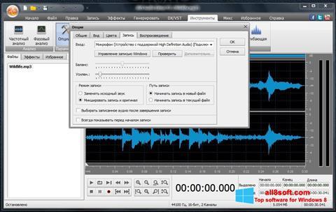 Στιγμιότυπο οθόνης AVS Audio Editor Windows 8
