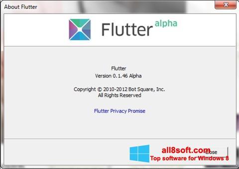 Στιγμιότυπο οθόνης Flutter Windows 8