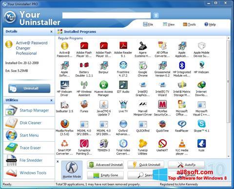 Στιγμιότυπο οθόνης Your Uninstaller Windows 8