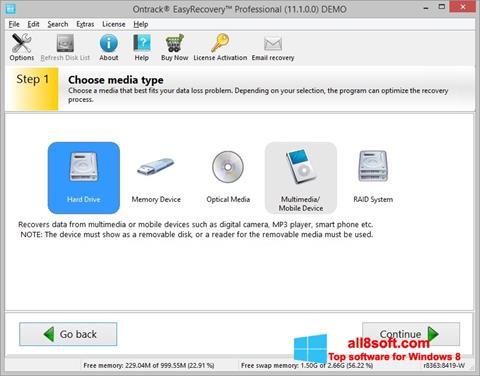 Στιγμιότυπο οθόνης EasyRecovery Professional Windows 8