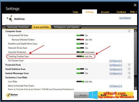 Στιγμιότυπο οθόνης Norton Windows 8