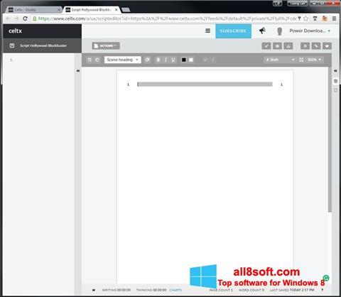Στιγμιότυπο οθόνης Celtx Windows 8