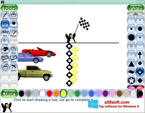 Στιγμιότυπο οθόνης Tux Paint Windows 8