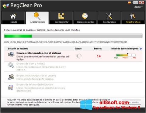 Στιγμιότυπο οθόνης RegClean Pro Windows 8