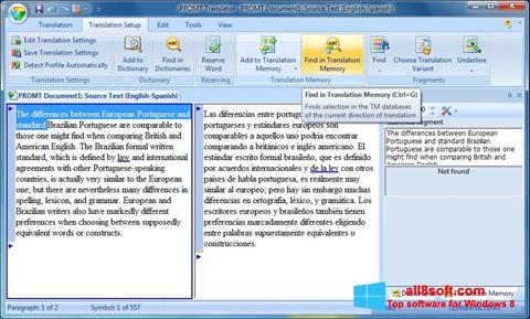 Στιγμιότυπο οθόνης PROMT Windows 8